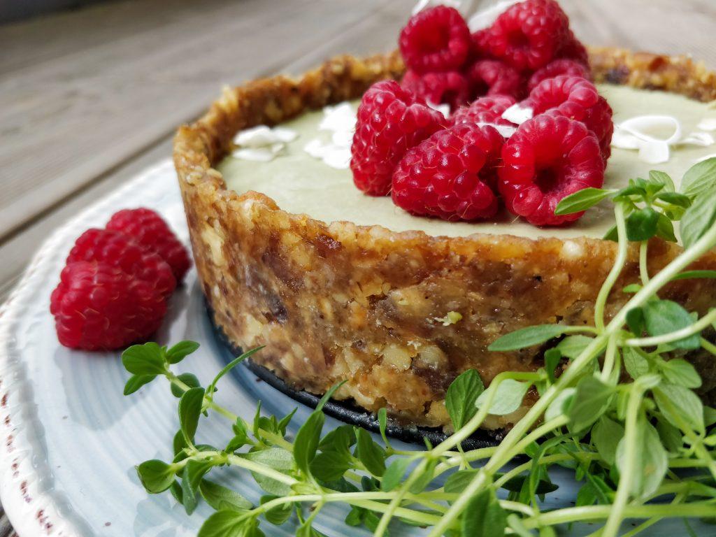 Matcha-Kokos-Cheesecake