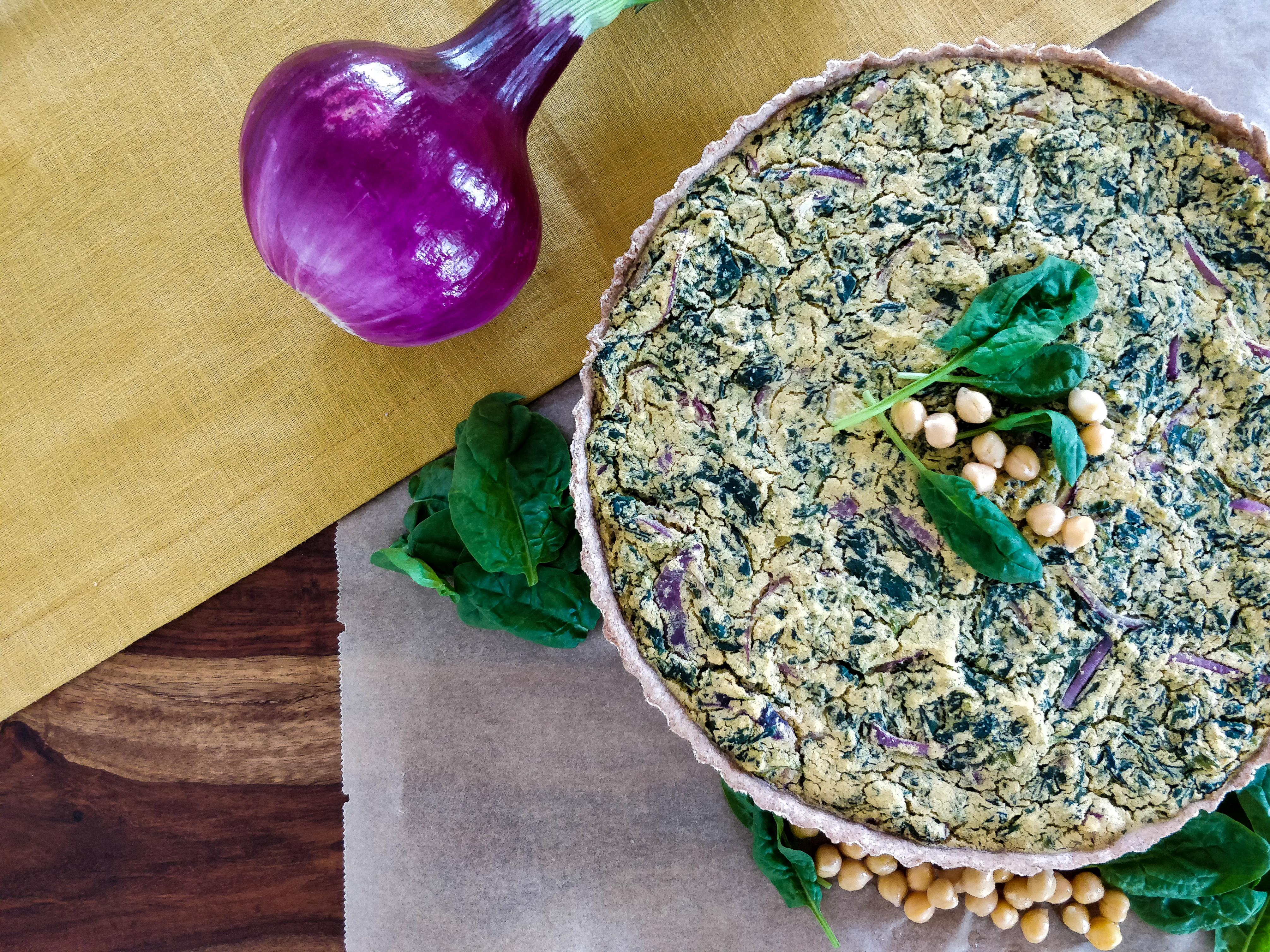 Vegane Spinat-Quiche