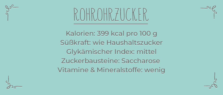 Informationen zu Rohrohrzucker