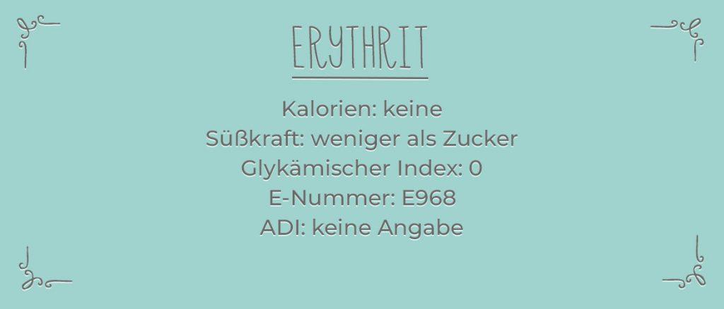 Erythrit Infotafel