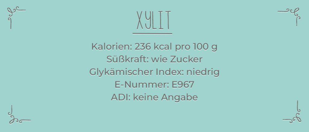 Xylit Infotafel