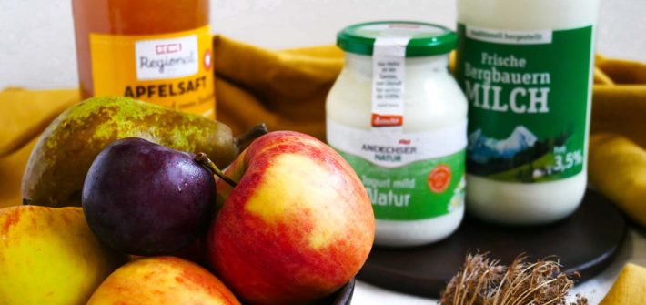 Lebensmittel mit Fructose und Lactose